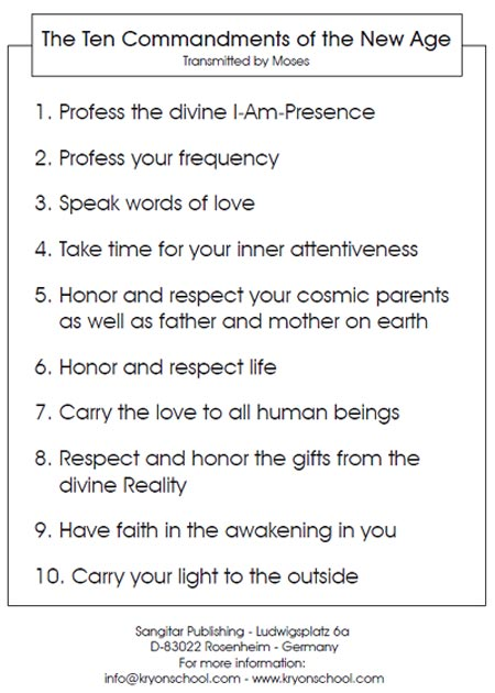 Spiritual Ten Commandments