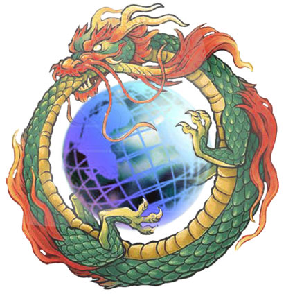 dragon globe white